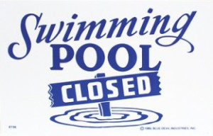 Pool Closure Scheduled for cleaning and repairs
