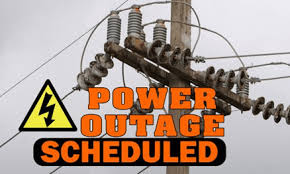 Power Outage Scheduled Mon.Mar.19th & Mon.Mar.26th